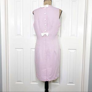 Vintage Gingham Sheath Dress Bows Size 12